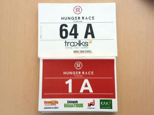 Les dossards Hunger Race sont arrivés !
